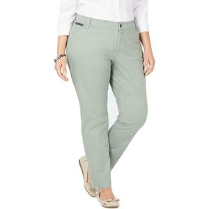 Charter Club Green Chino Pants Plus 16W 18W